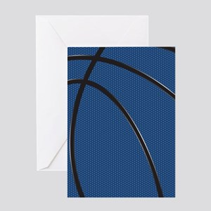 Blue and Black Basketball Greeting Cards