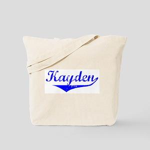 Kayden Vintage (Blue) Tote Bag