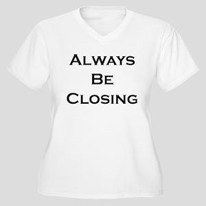 ABC...Always Be Closing Women's Plus Size V-Neck T