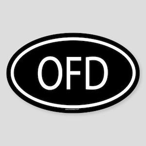 OFD Oval Sticker