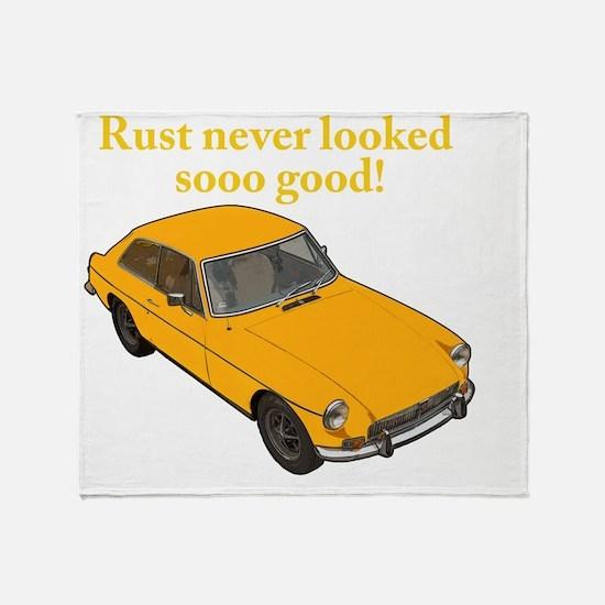 Cute Rust Throw Blanket