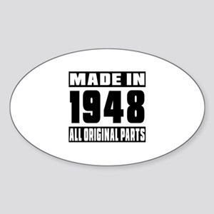 Made In 1948 Sticker (Oval)