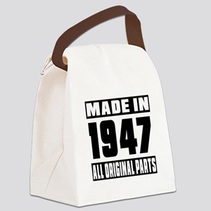 Made In 1947 Canvas Lunch Bag
