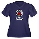 Badge - MacD Women's Plus Size V-Neck Dark T-Shirt