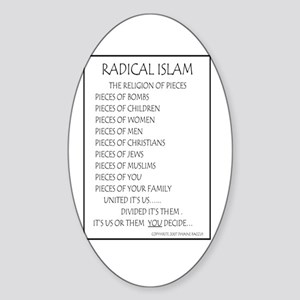 Radical Islam the Religion of Oval Sticker