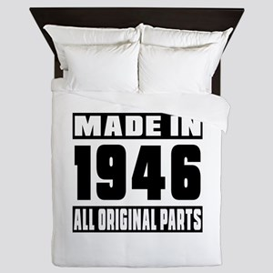 Made In 1946 Queen Duvet