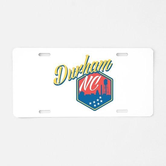 Durham, NC Aluminum License Plate