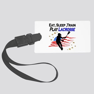 LACROSSE PLAYER Large Luggage Tag