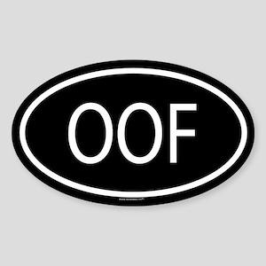 OOF Oval Sticker