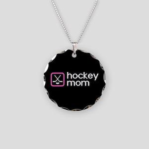Hockey Mom (Pink) Necklace Circle Charm