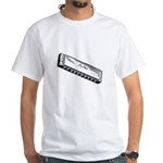 Harmonica/Blues Harp White T-Shirt