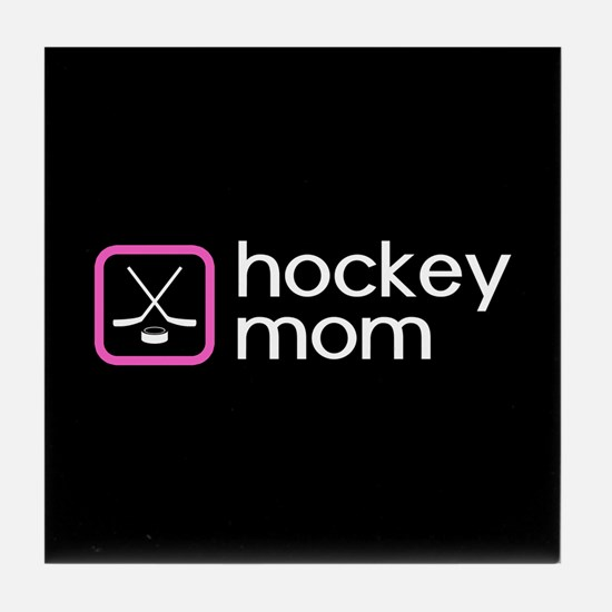 Hockey Mom (Pink) Tile Coaster
