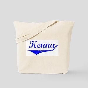 Kenna Vintage (Blue) Tote Bag