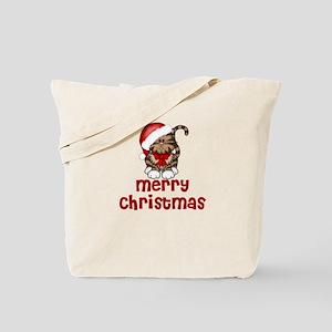 Merry Christmas Santa Cat Tote Bag