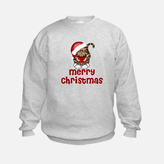 Merry Christmas Santa Cat Sweatshirt