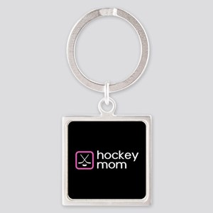 Hockey Mom (Pink) Square Keychain
