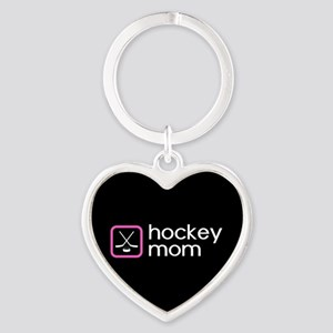 Hockey Mom (Pink) Heart Keychain