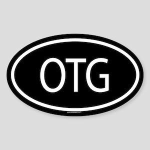 OTG Oval Sticker