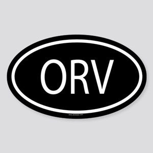 ORV Oval Sticker