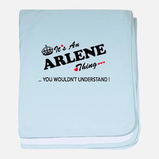 Funny Arlene baby blanket