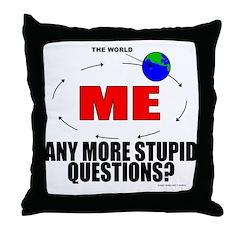 World Revolves Around Me Throw Pillow