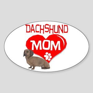 Dachshund Mom Oval Sticker