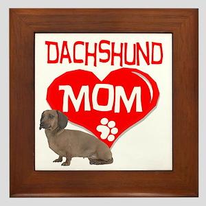 Dachshund Mom Framed Tile