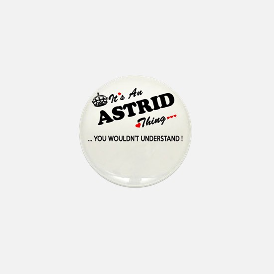 Cute Astrid Mini Button