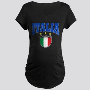 Italian soccer design Maternity Dark T-Shirt