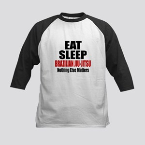 Eat Sleep Brazilian Jiu-Jitsu Kids Baseball Jersey