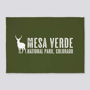 Deer: Mesa Verde, Colorado 5'x7'Area Rug