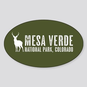Deer: Mesa Verde, Colorado Sticker (Oval)