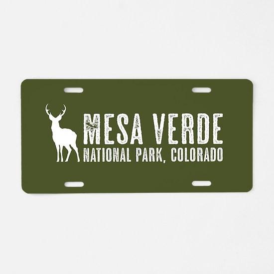 Deer: Mesa Verde, Colorado Aluminum License Plate