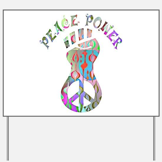 PEACE POWER Yard Sign