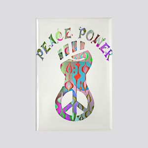 PEACE POWER Rectangle Magnet