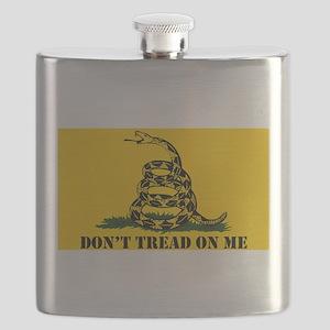 Dont Tread on Me Gadsden Flag Flask