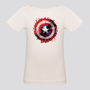 Avengers Cap Shield Spattered T-Shirt