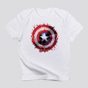 Avengers Cap Shield Spattered T-Shirt