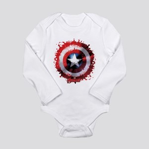 Avengers Cap Shield Spattered Body Suit