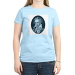 Beethoven! Blue Women's Pink T-Shirt