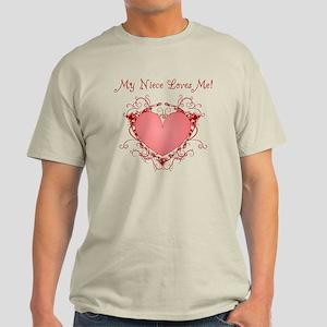 My Niece Loves Me Heart Light T-Shirt