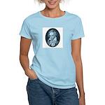 Beethoven! Blue Framed Women's Pink T-Shirt