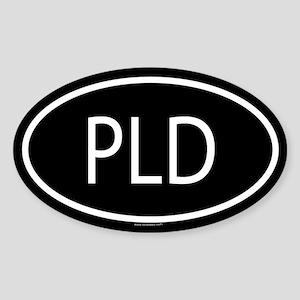 PLD Oval Sticker