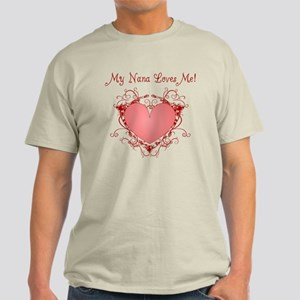 My Nana Loves Me Heart Light T-Shirt