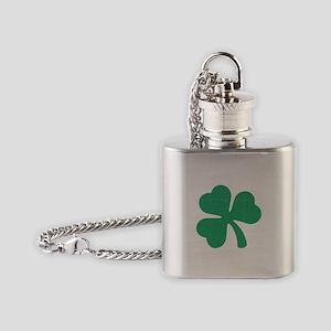 Irish Shamrock Flask Necklace