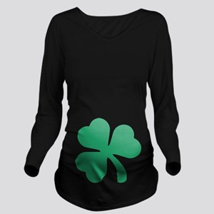Irish Shamrock Long Sleeve Maternity T-Shirt