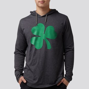 Irish Shamrock Mens Hooded Shirt