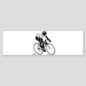 Cool Cyclist Bumper Sticker