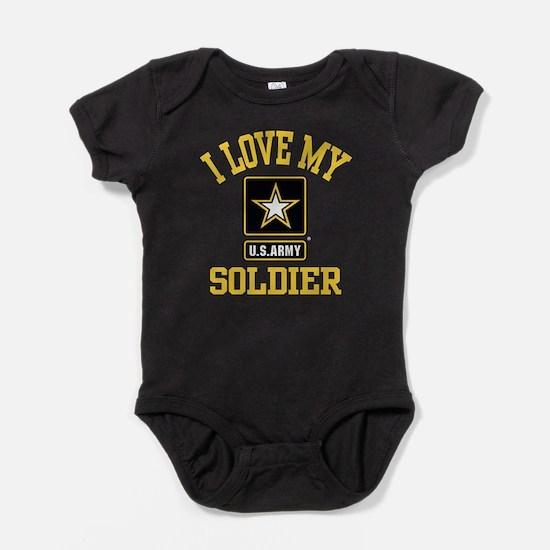 I Love My US Army Soldier Baby Bodysuit