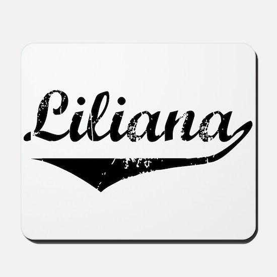Liliana Vintage (Black) Mousepad
